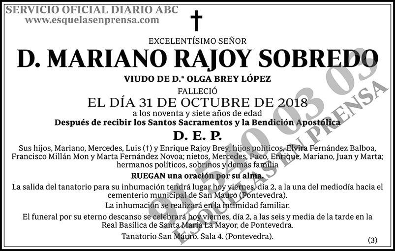 Mariano Rajoy Sobredo